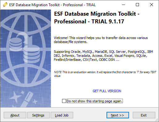 Click to view ESF Database Migration Toolkit Pro 9.2.02 screenshot